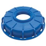 "Micro Matic 6"" IBC Center Blue Cap with 2.5"" X 5 Buttress Thread"